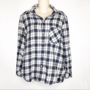 TNA | Button Down Plaid Flannel from Aritzia